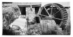 Jenney Mill In Black And White Hand Towel