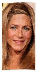 Jennifer Aniston Portrait Hand Towel