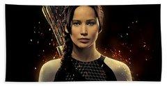 Jennifer Lawrence As Katniss Everdeen Hand Towel