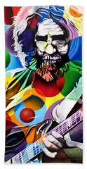 Jerry Garcia In Bubbles Hand Towel