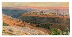 Jerusalem From The Mount Of Olives Hand Towel