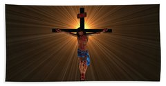 Jesus Christ Bath Towel by Michael Rucker