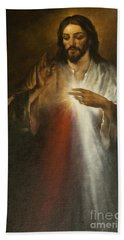 Jesus Of Divine Mercy Bath Towel