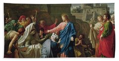 Jesus Resurrecting The Son Of The Widow Of Naim Oil On Canvas Hand Towel