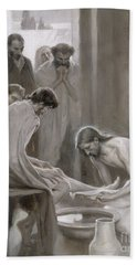 Jesus Washing The Feet Of His Disciples Hand Towel