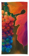 Hand Towel featuring the painting Jewels Of The Vine by Sandi Whetzel