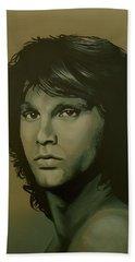 Jim Morrison Painting Hand Towel