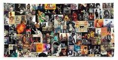 Jimi Hendrix Collage Bath Towel