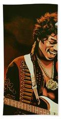 Jimi Hendrix Painting Bath Towel