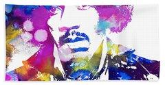 Jimi Hendrix - Psychedelic Hand Towel by Doc Braham
