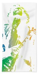 Jimmy Page Hand Towel by Dan Sproul
