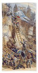 Joan Of Arc At The Assault Of The Tournelles Colour Litho Hand Towel