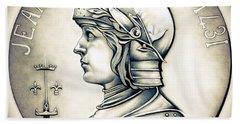 Joan Of Arc - Original Hand Towel