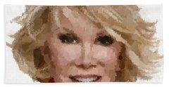 Joan Rivers Portrait Hand Towel