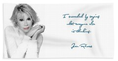 Joan Rivers Bath Towel by Maciek Froncisz