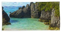 Hand Towel featuring the photograph Jobson Cove Beach by Verena Matthew