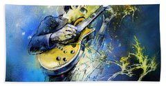 Joe Bonamassa 01 Bath Towel by Miki De Goodaboom