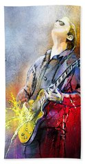Joe Bonamassa 02 Bath Towel by Miki De Goodaboom