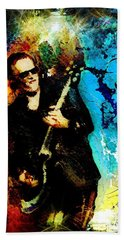 Joe Bonamassa Madness Bath Towel by Miki De Goodaboom