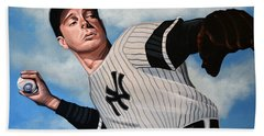 Joe Dimaggio Hand Towel by Paul Meijering