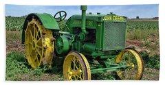 John Deere Tractor Hdr Bath Towel