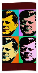 John F Kennedy - Jfk Pop Art Color Poster Bath Towel