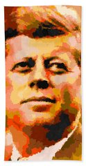 John Fitzgerald Kennedy - Abstract Bath Towel