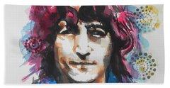 John Lennon..up Close Bath Towel