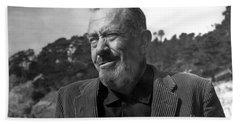John Steinbeck Pebble Beach, Monterey, California 1960 Bath Towel