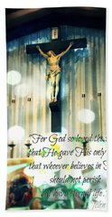 John316 - Easter Crucifix Hand Towel by Sharon Soberon