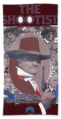 Hand Towel featuring the photograph John Wayne The Shootist Amsel Art Work 1976-2013 by David Lee Guss