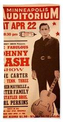 Johnny Cash Hand Towel by Bob Hislop