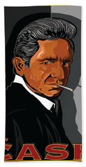 Johnny Cash American Country Music Icon Bath Towel