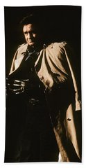 Bath Towel featuring the photograph Johnny Cash Trench Coat Variation  Old Tucson Arizona 1971 by David Lee Guss