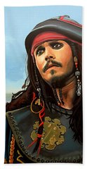 Johnny Depp As Jack Sparrow Hand Towel