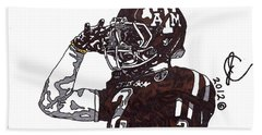 Johnny Manziel The Salute Hand Towel by Jeremiah Colley