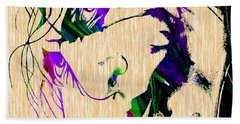 Joker Collection Hand Towel by Marvin Blaine
