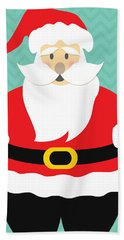 Jolly Santa Claus Bath Towel