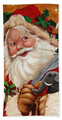 Jolly Santa Hand Towel