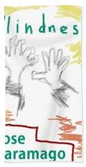 Jose Saramago Blindness Poster Hand Towel