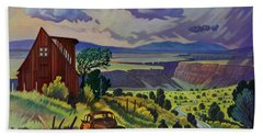 Journey Along The Road To Infinity Hand Towel by Art James West