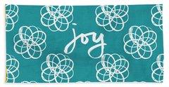 Joy Boho Floral Print Hand Towel