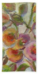 Bath Towel featuring the painting Joy by Mary Wolf