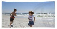 Joyful Play Of Children Hand Towel by Charles Beeler