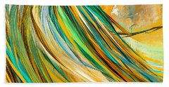 Joyous Soul- Yellow And Turquoise Artwork Bath Towel