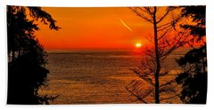 Juan De Fuca Sunset Bath Towel