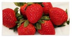 Juicy Strawberries Bath Towel
