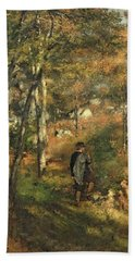 Jules Le Coeur In The Forest Of Fontainebleau, 1866 Bath Towel