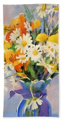July Summer Arrangement  Hand Towel