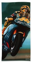 Jumping Valentino Rossi  Hand Towel